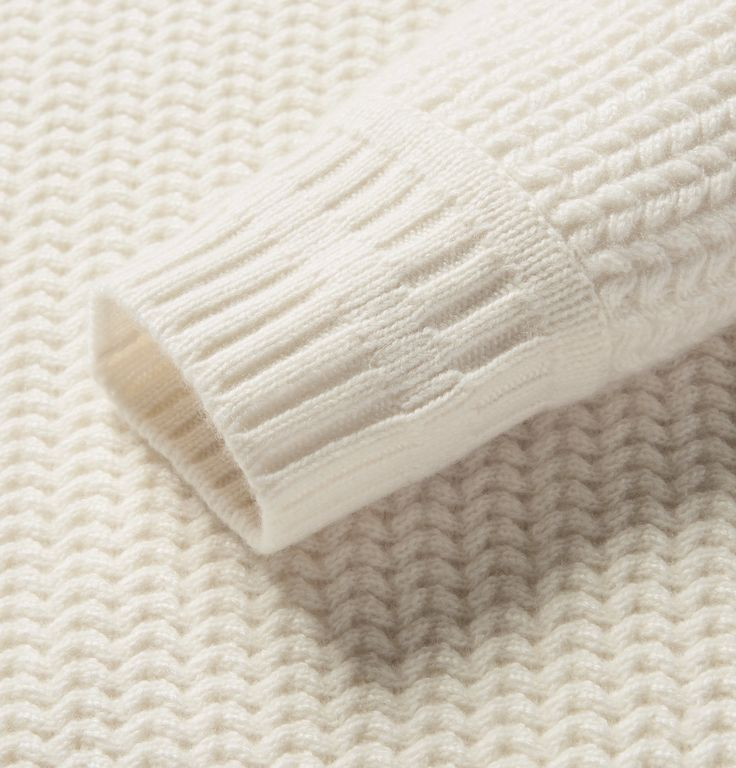 This Italian-made <a href='http://www.mrporter.com/mens/Designers/Berluti'>Berluti</a> sweater earns high marks for both comfort and craftsmanship. It's knitted in a tactile chevron stitch from pure cashmere and has intricate ribbed trims - far from the standard variety. The cream hue will smartly constrast dark trousers or jeans.