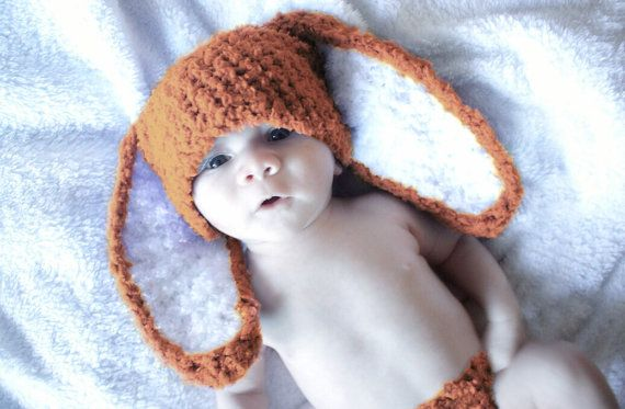 0 to 3m Infant Easter bunny beanie hat in orange and white. Handmade with love by Babamoon :)   *Can be made in sizes Preemie to Adult in other colours on request!   #handmade #babyhat #baby #hat #babies #rabbit #easter #bunny #bunnyrabbit #bunnyhat #bunnyears #white #orange #babyshower #babyshowergift #easterbunny #etsy #babyfashion #childrensfashion #kidsfashion #babygifts #gifts #etsygifts #trend #stylish #fashion #photoprop #photographyprop #newbornphotography #newbornprops #children…