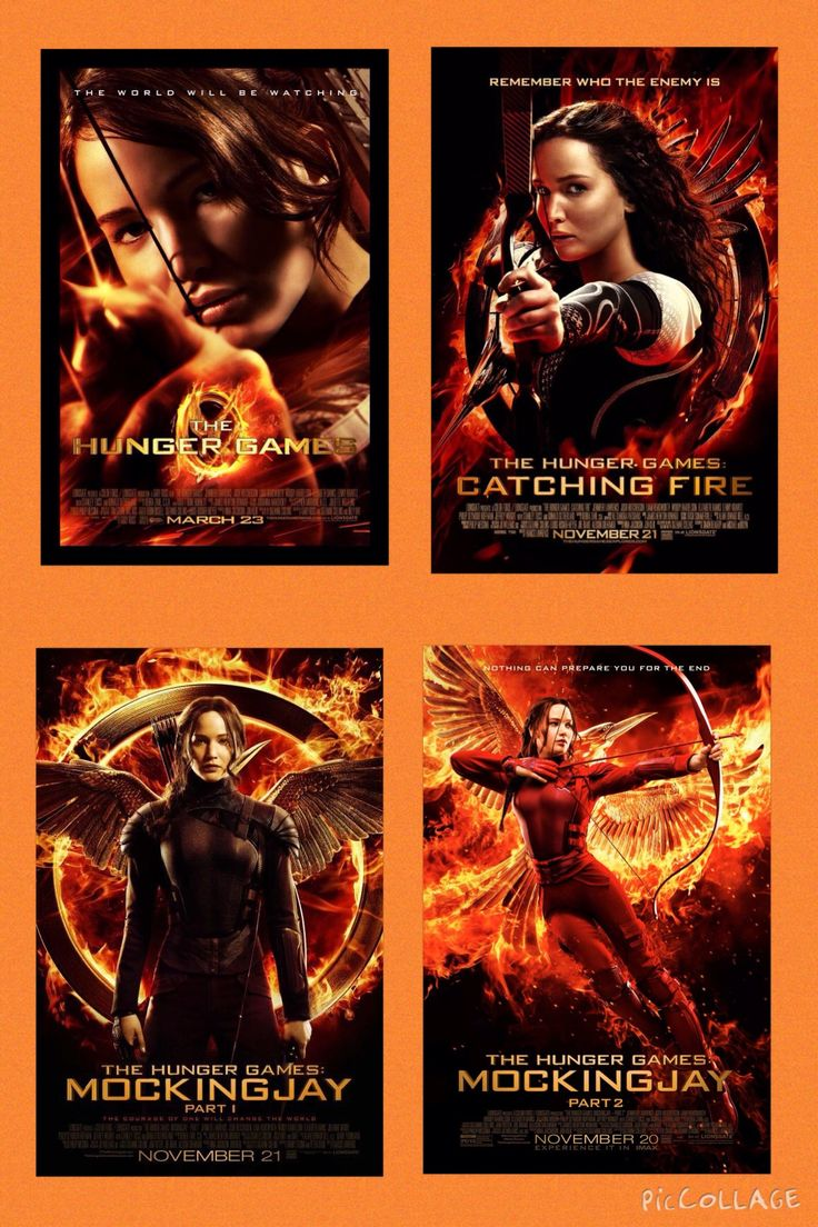 The Hunger Games, Catching Fire, Mockingjay Part 1,  Mockingjay Part 2