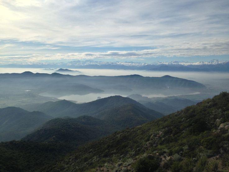 Altos de Cantillana, vista Laguna de Aculeo
