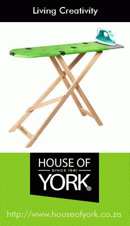 House of York ironing boards are best-sellers and extremely popular. They even have adjustable heights so that you won't suffer from backache. #ironingboard #laundry #quality