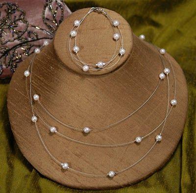Cathie & Steve {Make. Bake. Celebrate!}: Make it for Mom: Floating Pearl Necklace