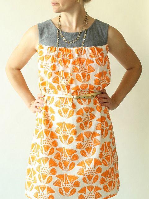 Ruby Dress - lined yoke by madebyrae, via Flickr