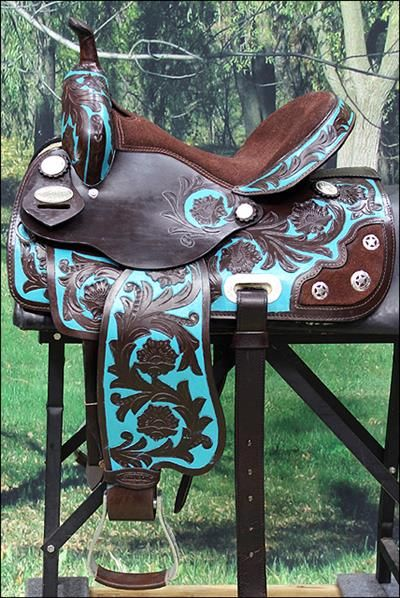 HILASON WESTERN BARREL RACING TRAIL PLEASURE HORSE LEATHER SADDLE