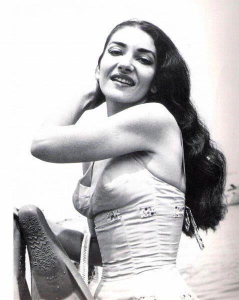 La Divina, Maria Callas, on vacation