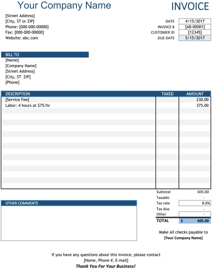 661 best Excel Project Management Templates For Business Tracking - invoice bill