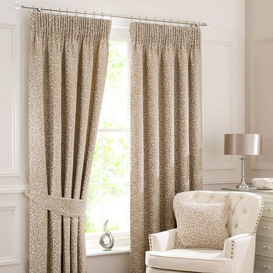 Cream Willow Lined Pencil Pleat Curtain Collection | Dunelm