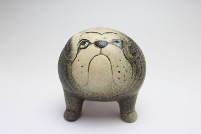 Lisa LARSON BULLDOG (GY)[midiM] size: H10cm color: grey  ブルドッグの特徴のある顔つきと体型なんとも可愛いです。 絶対欲しくなりますよ。