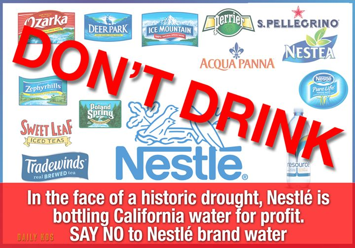 BOYCOTT Nestle Products: Especially bottled water | 2012 The Awakening