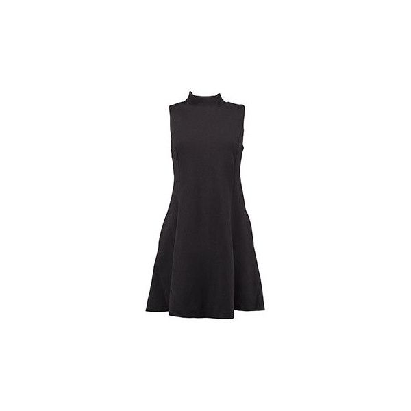 Superdry Black A-Line Dress (1.020 RUB) ❤ liked on Polyvore featuring dresses, a line silhouette dress, superdry, superdry dresses, a line dress and a line shape dress