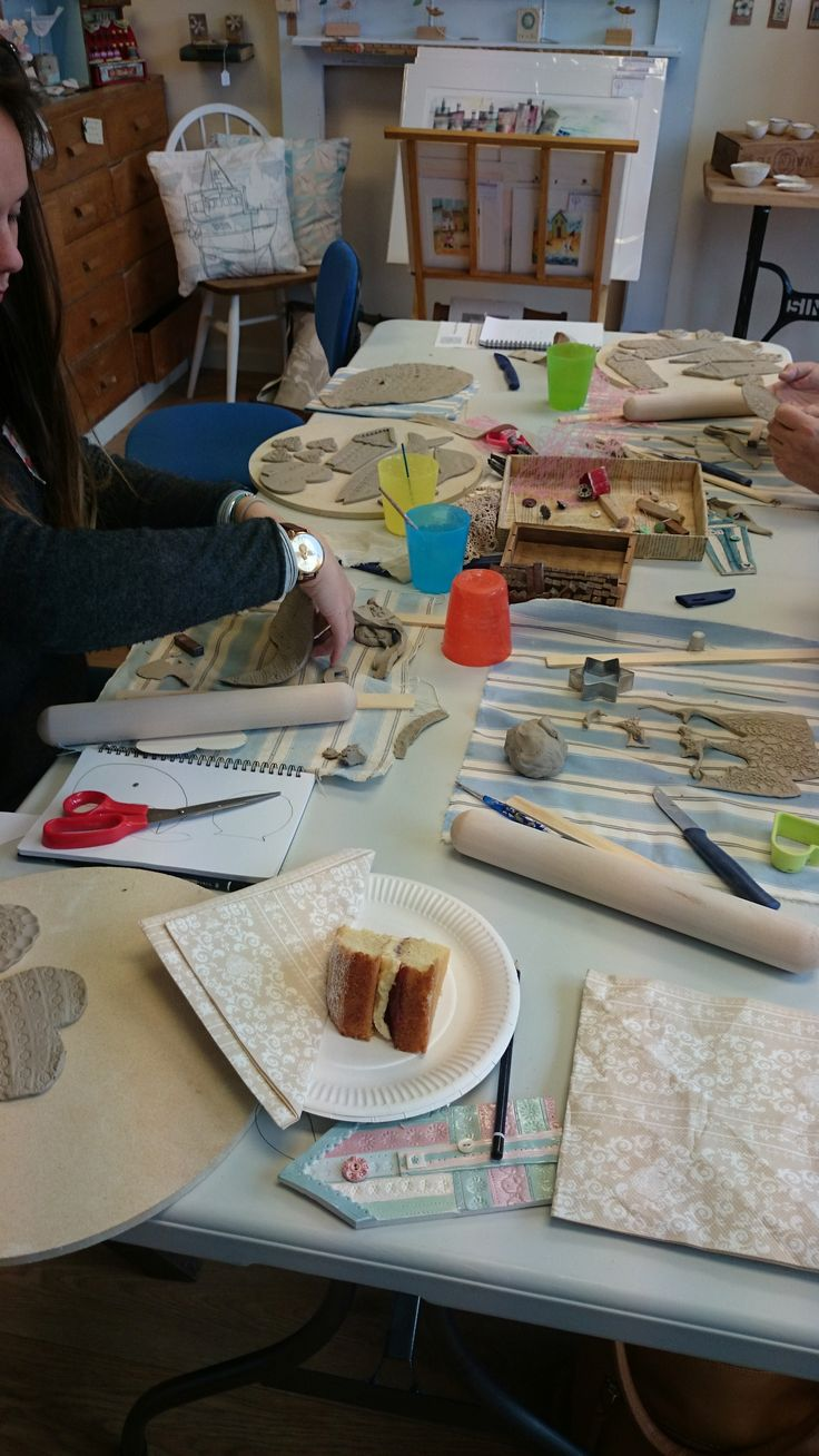Workshop in full swing at the gallery!