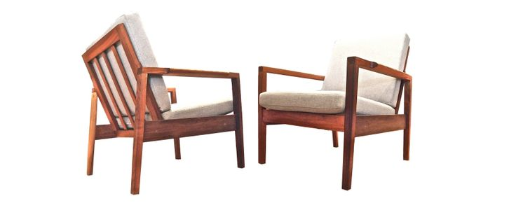 walnut chairs, mid century