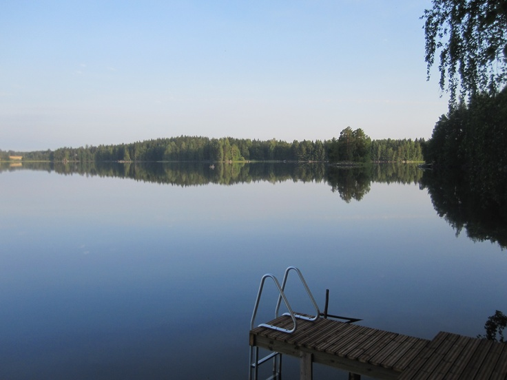 Calm lake view and new pier in #Torvoila