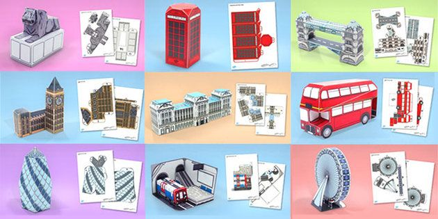 London Paper Model Resource Pack - london, paper, model, craft