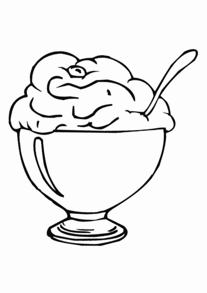 Ice Cream Sundae Coloring Page Best Of Ice Cream Sundae Coloring Page Coloring Home Ice Cream Coloring Pages Flower Coloring Pages Coloring Pages