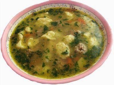 Кулинарная книга Алии: 59. Суп с галушками и фрикадельками