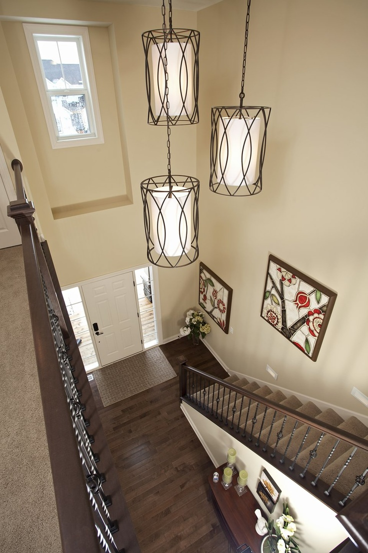 Foyer Ceiling Near Me : I adore staircases that look like this and have the
