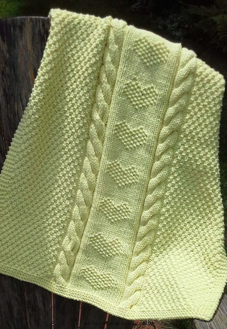 Baby Knitting Patterns Free Knitting Pattern for Love Is a Blanket...