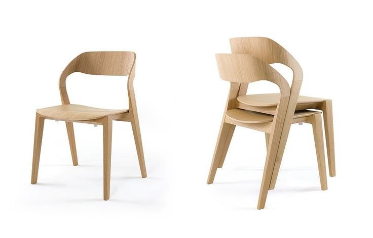 Design wood chair, stackable, minimalist, for Hotel | IDFdesign