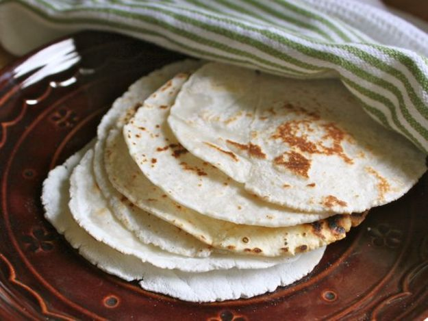 The recipe makes a gluten-free flour tortilla that's chewy, bendable, and a perfect starting point for any toppings.