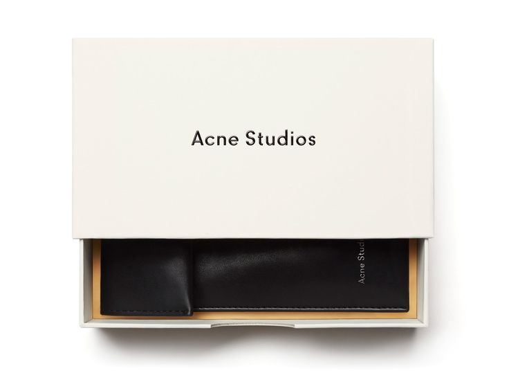 Acne Studios, branding, packaging, shoe box, minimal, negative space