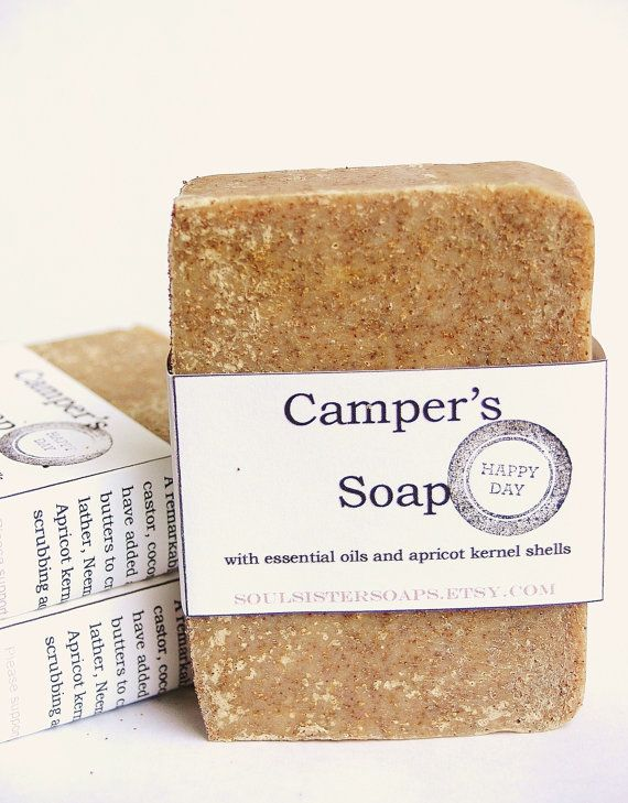 Biodegradable Campers Soap  Vegan  Bug by SoulSisterSoaps on Etsy) probably a good idea