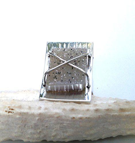 925 Sterling Silver Druzy Quartz Ring Konstantis Jewelry http://www.amazon.com/dp/B00QPD5ZMO/ref=cm_sw_r_pi_dp_ML0zvb0J8SD55
