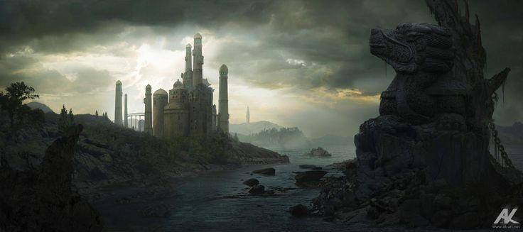 Jade Castle by adamkuczek.deviantart.com