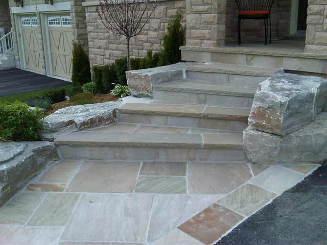 Building Stone Steps And Walkways : Best images about stoops on pinterest stone stairs