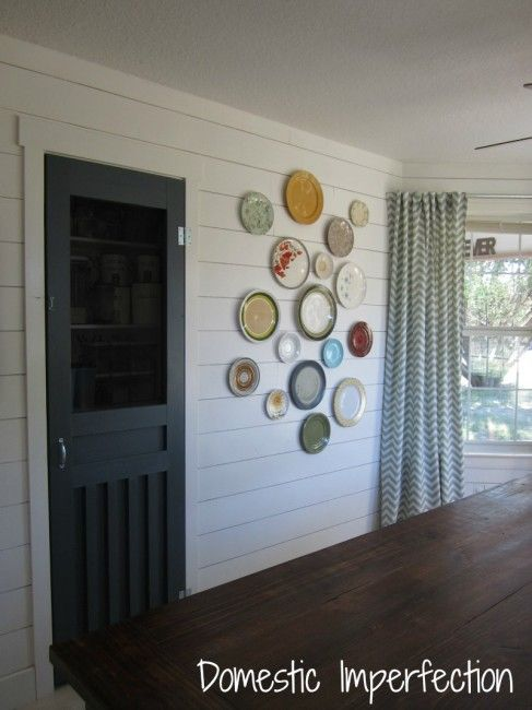 Make Your Own Plate Hangers & My Dining Room Plate Wall