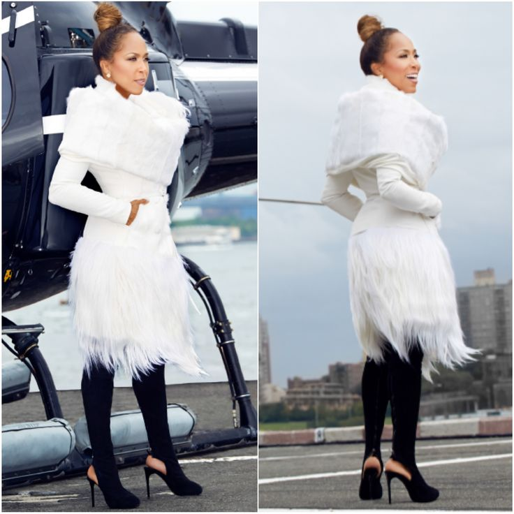 Ballerific Fashion: Marjorie Harvey Wearing Donna Karan Fall 2014 Fur ...