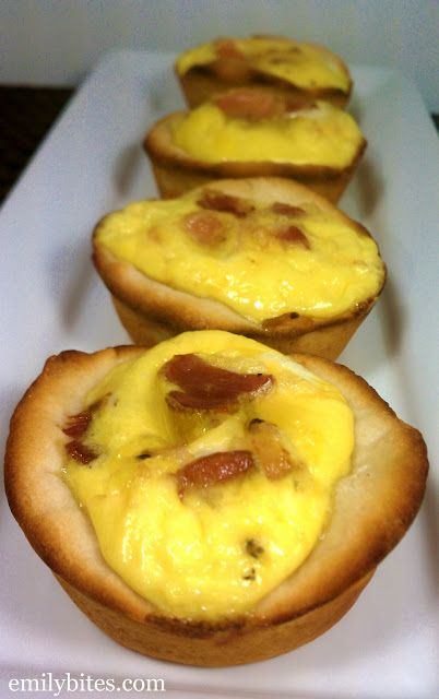 Emily Bites - Weight Watchers Friendly Recipes: Bacon, Egg & Cheese Biscuit Cups