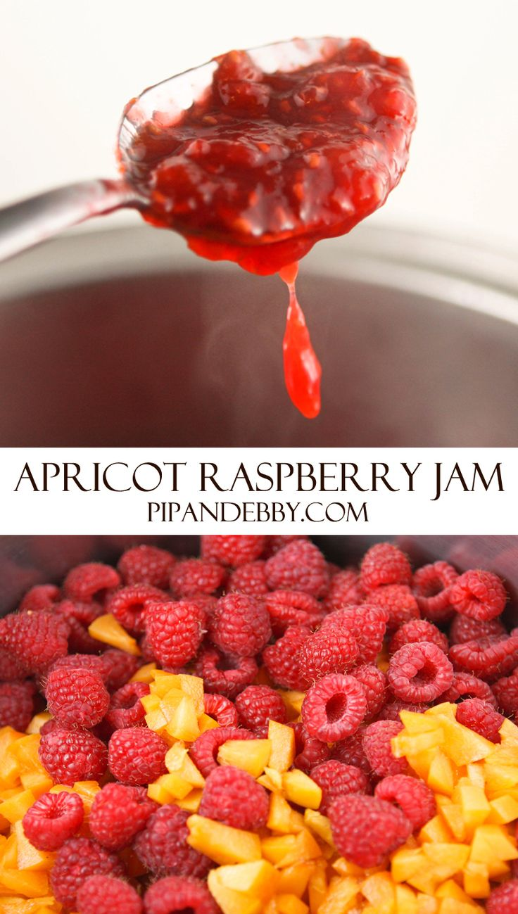 Apricot Raspberry Jam | I LOVE this combination of juicy fruits that create a delicious jelly/jam.