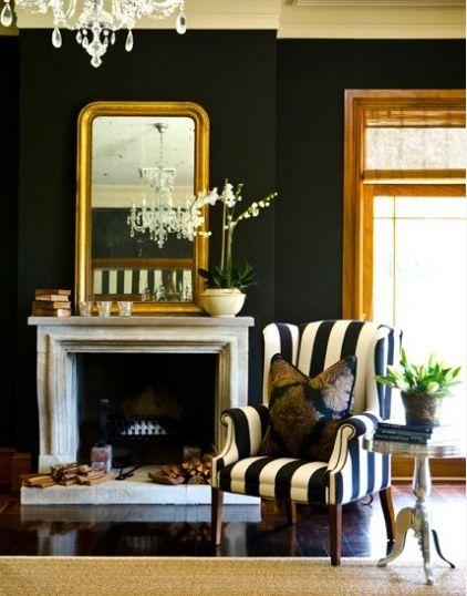 Love black walls!