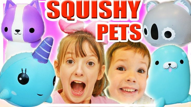 Squishy Pets Surprise Food Squishies Toys For Kids Soft Slow Toy Unboxin...