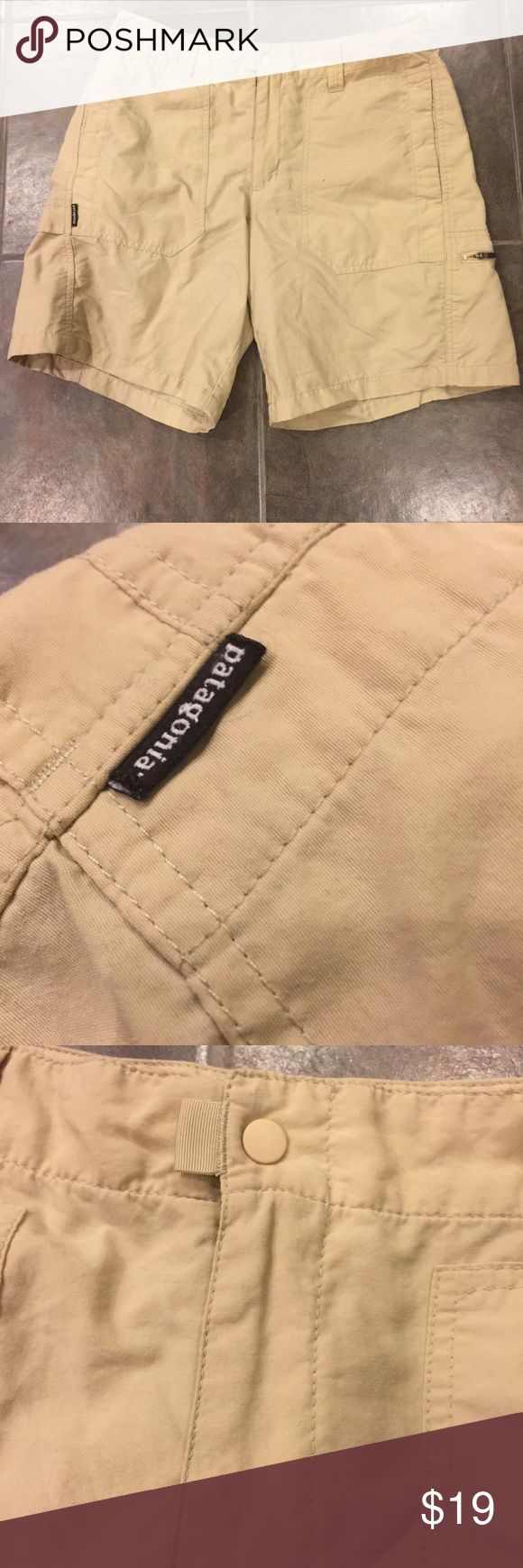 PATAGONIA Women's Khaki Colored Cargo Shorts Warmer weather is right around the corner. Wonderful Patagonia shorts in a lightweight material in a Khaki color! Excellent gently loved condition, no flaws! Size 8. Patagonia Shorts Cargos