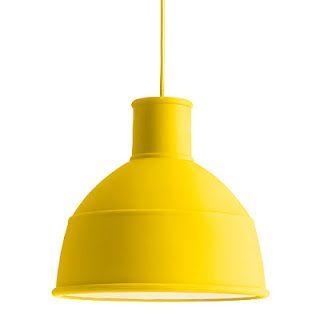 Mooie gele lamp