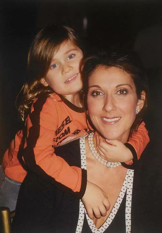Celine Dion and her son, Rene Charles