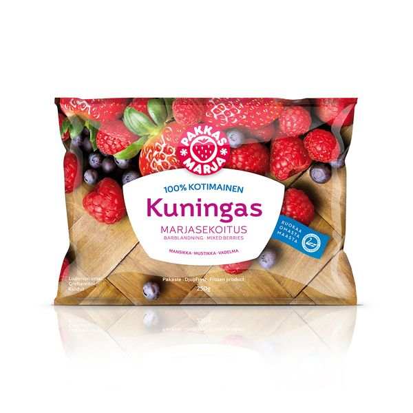 Kuningas - Pakkasmarja Frozen Food #Packaging by PACKLAB / Lisbon, via Behance