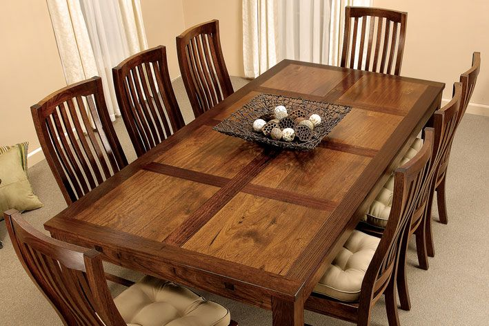 Patchwork - Extension Table - 9 piece dining setting