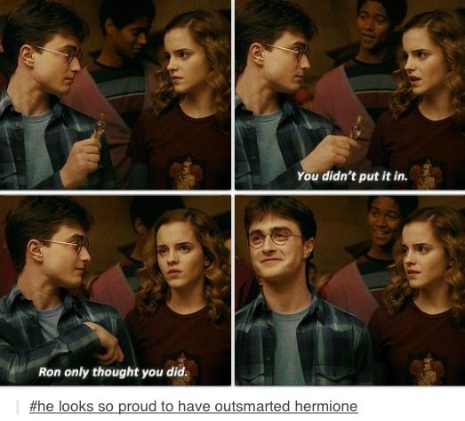 Hermione's face.. :)