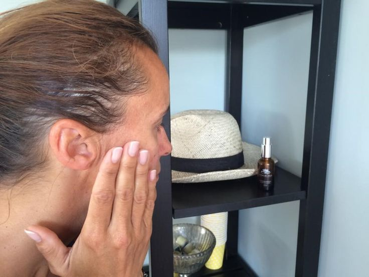 One of our wonderful clients using our Lykke by Julie Rejuvenating Facial Serum!!