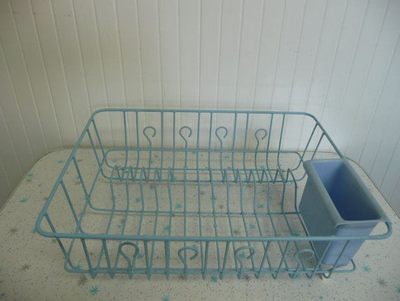 Vintage Baby Blue Larger Size Dish Drain Rack, Rubber Coated Metal -  Vintage Home Decor on Etsy, $32.45 AUD