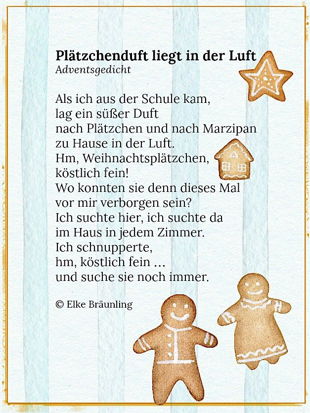 Plätzchenduft Liegt In Der Luft Gedicht Weihnachten