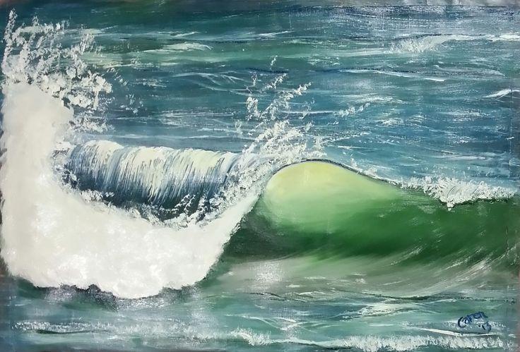 Wave. Oils. By Caren