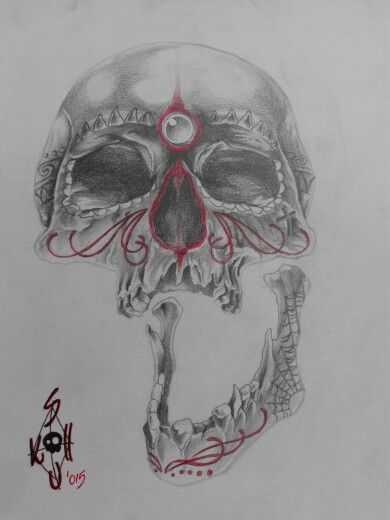 Skull... back and grey