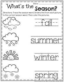 Preschool Season Worksheet for May
