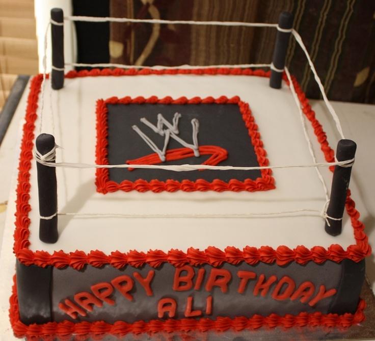 Ww Wrestling Birthday Cake