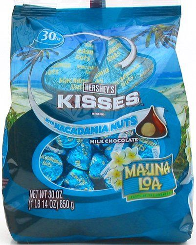 Hershey's Kisses Mauna Loa Milk Chocolate Macadamia Nuts, 30-ounce Bag:Amazon:Grocery & Gourmet Food