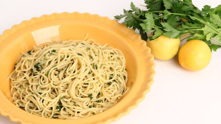 Lemon & Herb Spaghetti Recipe - Laura Vitale - Laura in the Kitchen Episode. Tried this too lemony for my taste try less lemon and add feta cheese or any other cheese to break up the lemony flavor as well overall ok recipe